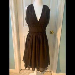 J.Crew chiffon v-neck tea dress